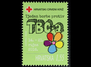 Kroatien Croatia 2016 Nr. 145 Zwangszuschlag Rotes Kreuz Tuberkulosebekämpfung