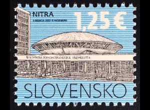 Slowakei Slovakia 2017 Nr. 808 Freimarke Kulturerbe Aula Universität Nitra