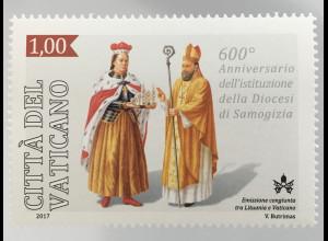 Vatikan Cittá del Vaticano 2017 Michel Nr. 1895 600 Jahre Diözese Samogitien