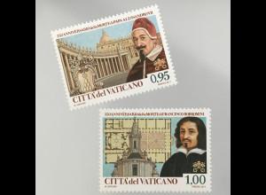 Vatikan Cittá del Vaticano 2017 Michel Nr. 1896-97 Papst Alexander & Borromini