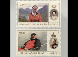 Norwegen 2017 Nr. 1931-32 Geburtstag des Königspaars König Harald Königin Sonja