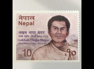 Nepal 2016 Neuheit Lakhan Thapamagar 1834-77 berühmte Person Märtyrer