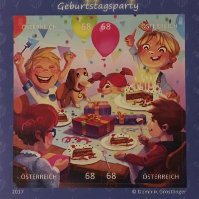 Österreich 2017 Block 93 Comicmarken-Puzzle Geburtstagsparty Toll für Kinder