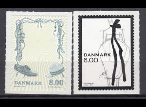 Dänemark 2011 Michel Nr. 1662-63 **, Mode, Entwurf eines Kleides v.Malene Birger