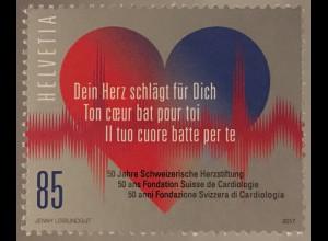 Schweiz 2017 Michel Nr. 2486 50 Jahre Schweizerische Herzstiftung Gesundheit
