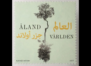 Aland 2017 Michel Nr. 437 Multikulturelles Aland Baum im Spiegelbild