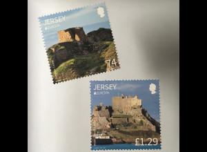 Jersey 2017 Michel Nr. 1097 + 2100 Europa Burgen und Schlösser Festung Grosnez