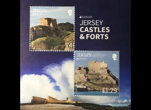 Jersey 2017 Block 152 Europa Burgen und Schlösser Castles & Forts Blockausgabe