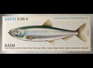 Estland EESTI 2017 Michel Nr. 883 Ostseehering Clupea harengus membras Fische