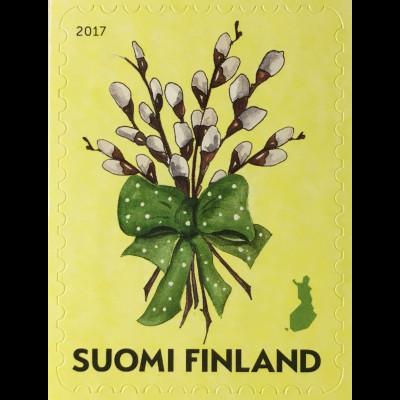 Finnland Finland 2017 Michel Nr 2490 Ostern Pasqua Eastern Weidenstrauß Religion