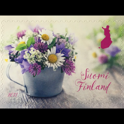 Finnland Finland 2017 Michel Nr 2492 Sommerblumen Blumenstrauß Frühling Sommer
