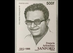 Polynesien französisch Polynesie Francaise 2016 Nr. 1330 20. Todestag Sanford