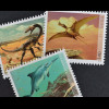 Schweiz 2010 Michel Nr. 2167-69 **, Saurierfossilien aus Schweizer Fundstätten
