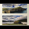Dänemark Färöer 2017 Michel Nr. 888-89 Seen Sørvágsvatn Leitisvatn Natur Flora