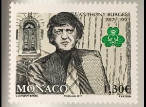 Monako Monaco 2017 Michel Nr. 3325 100. Geburtstag von Anthony Burgess Literatur