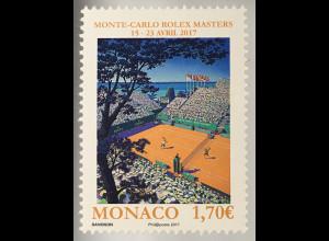 Monako Monaco 2017 Michel Nr. 3323 Inter Tennisturnier Monte-Carlo Rolex Masters