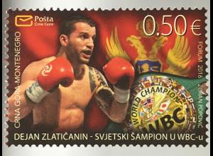 Montenegro 2016 Nr. 399 Dejan Zlatičanin Profiboxer und WBC Weltmeister Sport