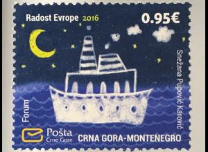 Montenegro 2016 Nr. 395 Europäisches Kindertreffen Freude Europas Kinderbild