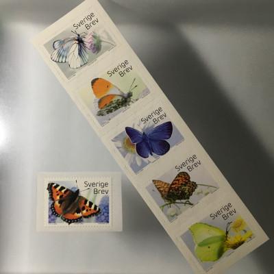 Schweden Sverige 2017 Nr. 3159-64 Schmetterlinge Fauna Admiral Zitronenfalter