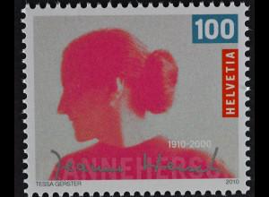 Schweiz Switzerland 2010 Michel Nr. 2173 **, 100. Geburtstag von Jeanne Hersch
