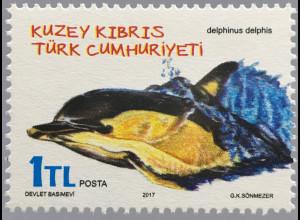 Zypern türkisch Cyprus Turkish 2017 Nr. 836 Delphin Fauna Meeresbewohner Tiere