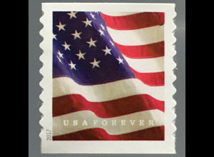 USA Amerika 2017 Michel Nr. 5352 BG Freimarke Flagge aus Rolle