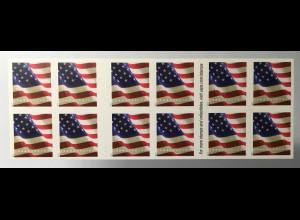 USA Amerika 2017 Folienblatt 212 Freimarken Flagge APU