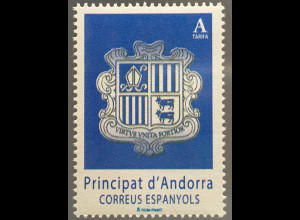 Andorra spanisch 2017 Nr. 447 Freimarke Wappen von Andorra