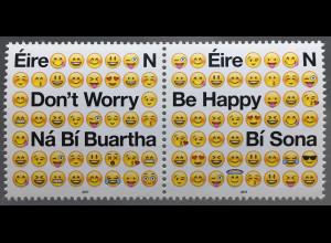 Irland 2017 Michel Nr. 2216-17 Positive Emotionszeichen Emojis Don´t worry