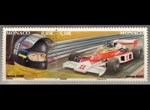 Monako Monaco 2017 Michel Nr. 3329-30 Bedeutende Formel-1-Rennfahrer in Monaco