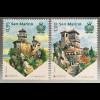 San Marino 2017 Michel Nr. 2707-08 Europaausgabe Burgen und Schlösser