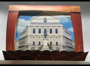 """Spanien España 2017 Block 288 Wiedereröffnung Opernhaus """"Teatro Real"""" in Madrid"""