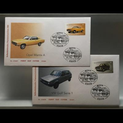 Bund BRD Ersttagsbrief FDC Nr. 3301-02 13. April 2017 Klassische Automobile