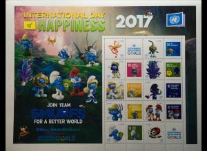 Verei. Nationen UNO Wien 2017 Nr. 956-65 Kleine Schlümpfe große Ziele Glück