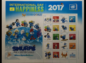 Ver. Nationen UN UNO New York 2017 Nr. 1591-1600 Schlümpfe Tag des Glücks