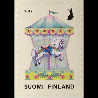 Finnland Finland 2017 Michel Nr. 2491 Karusell Antikes Pferdekarusell