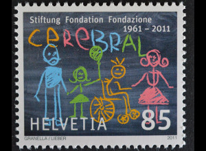 Schweiz Switzerland 2011 Michel Nr. 2191 **, 50 J. Stiftung CEREBRAL