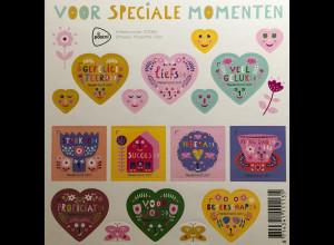 Niederlande 2017 Nr. 3574-83 Grußmarken für besondere Anlässe tolle Herzform