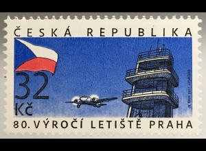 Tschechische Republik 2017 Michel Nr. 919 80 Jahre Flughafen von Prag in Ruzyně