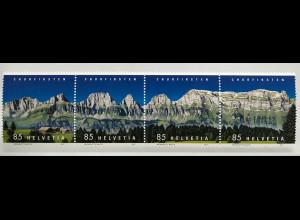 Schweiz 2017 Michel Nr. 2487-90 Bergkette Churfirsten Alpen Bergkette Wandern