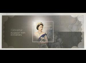 Gibraltar 2017 Block 126 Jahrestag der Thronbesteigung Königin Elisabeth II