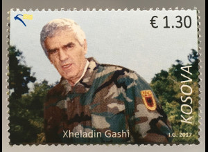 Kosovo 2017 Nr. 381 Xheladin Gashi Plaku berühmte Person Soldat Militär