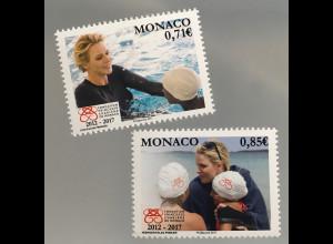 Monako Monaco 2017 Michel Nr. 3335-36 Stiftung Förderung des Schwimmunterrichts