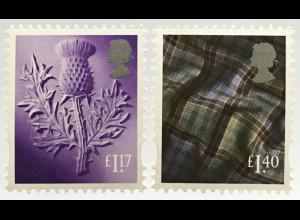 Großbritannien 2017 Regionalmarke Schottland Michel Nr. 122-23 Landeswahrzeichen