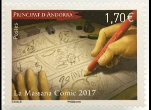 Andorra französisch 2017 Michel Nr. 816 20 Jahre Comic-Salon Kunst Zeichnen