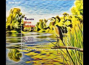 Bosnien Herzegowina 2017 Neuheit Fauna Tierwelt Vögel Graureiher Vogelmotiv
