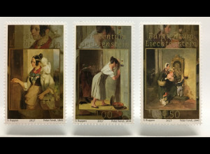 Liechtenstein 2017 Nr. 1855-57 Fürstliche Schätze Peter Fendi Biedermeiermalerei