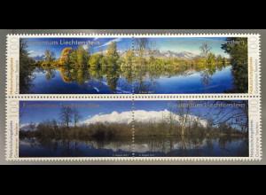 Liechtenstein 2017 Nr. 1858-61 Gampriner Seelein Naturschutzgebiete Umweltschutz