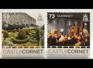 Guernsey 2017 Michel Nr. 1611-13 Europaausgabe Schloss Cornet Burgen Schlösser