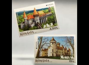 Rumänien 2017 Nr. 7207-08 Europaausgabe Burgen und Schlösser Burgmotiv